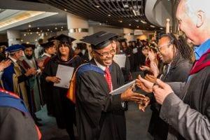 Graduation - handshake