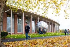 Autumn campus shot