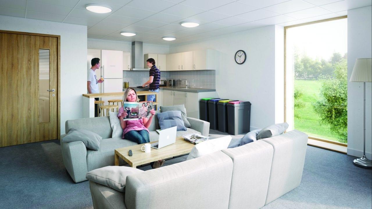 new halls lounge area