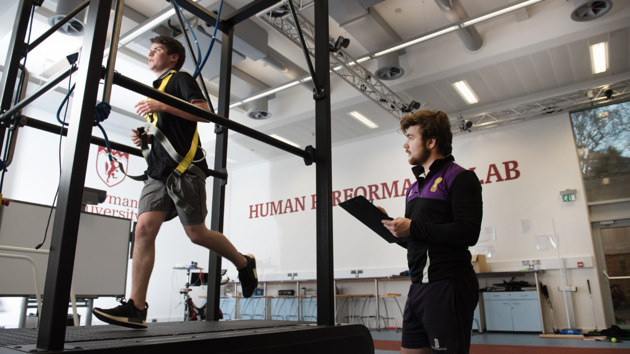 sports machinery in the human performance lab