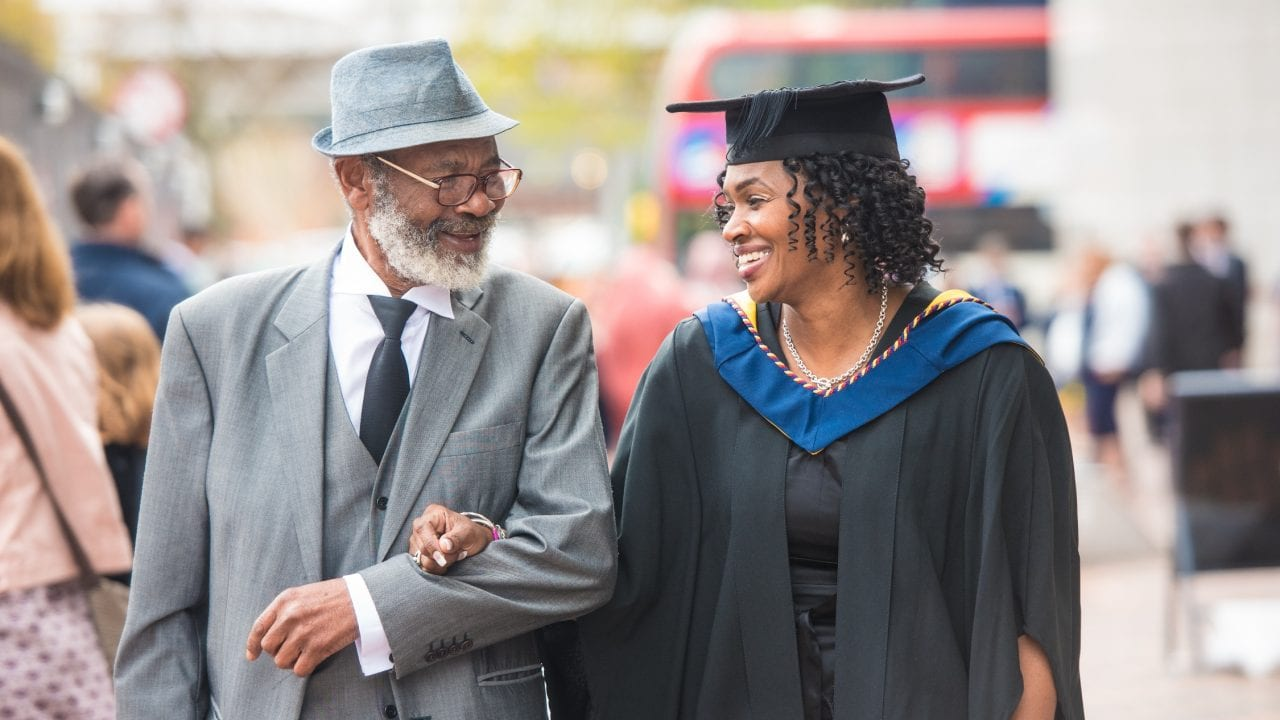 Graduation - father and daughter