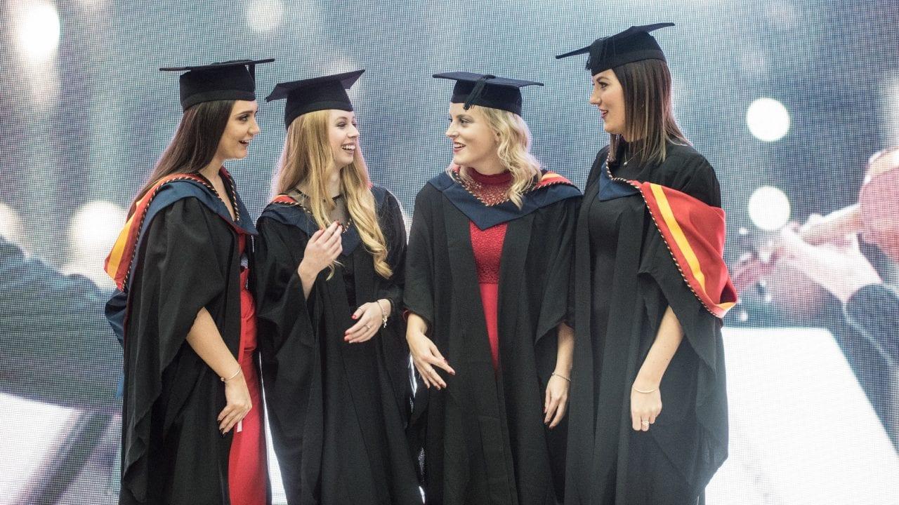 Graduation - girls talking