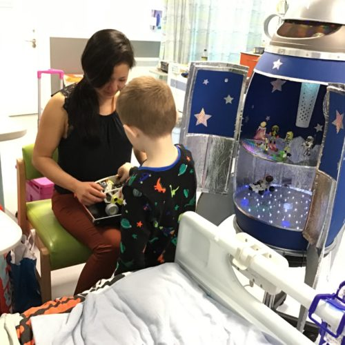 Rocet-Arts in Birmingham Children's hospital
