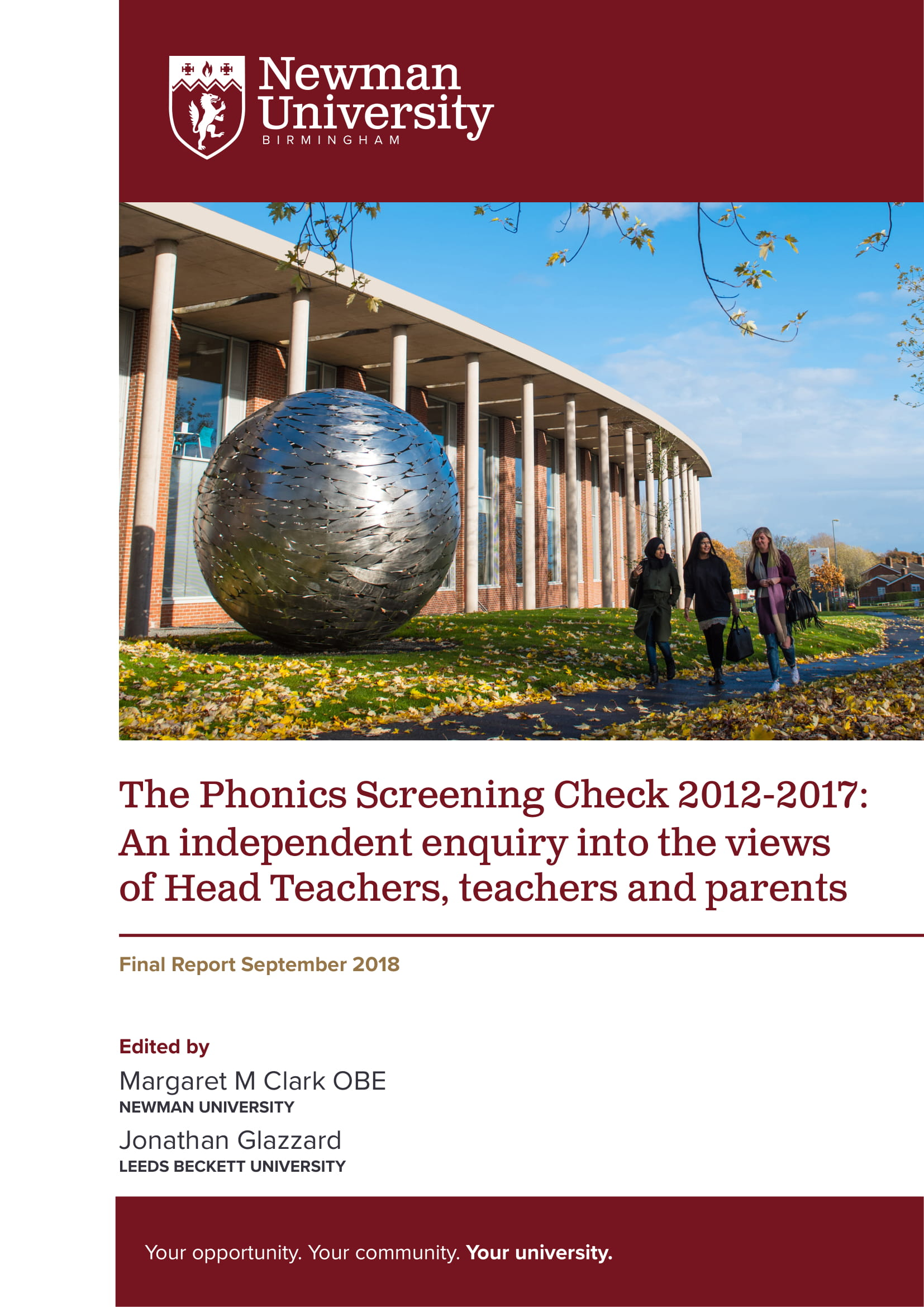 The Phonics Screening Check report - click to download