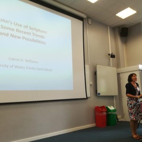 Susan Docherty presenting