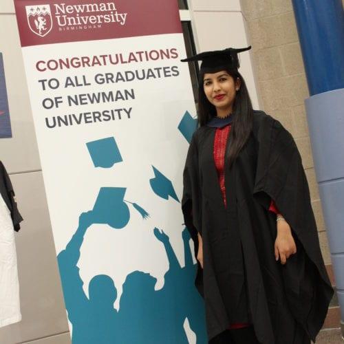 Ramisha Abbas - graduate from Newman