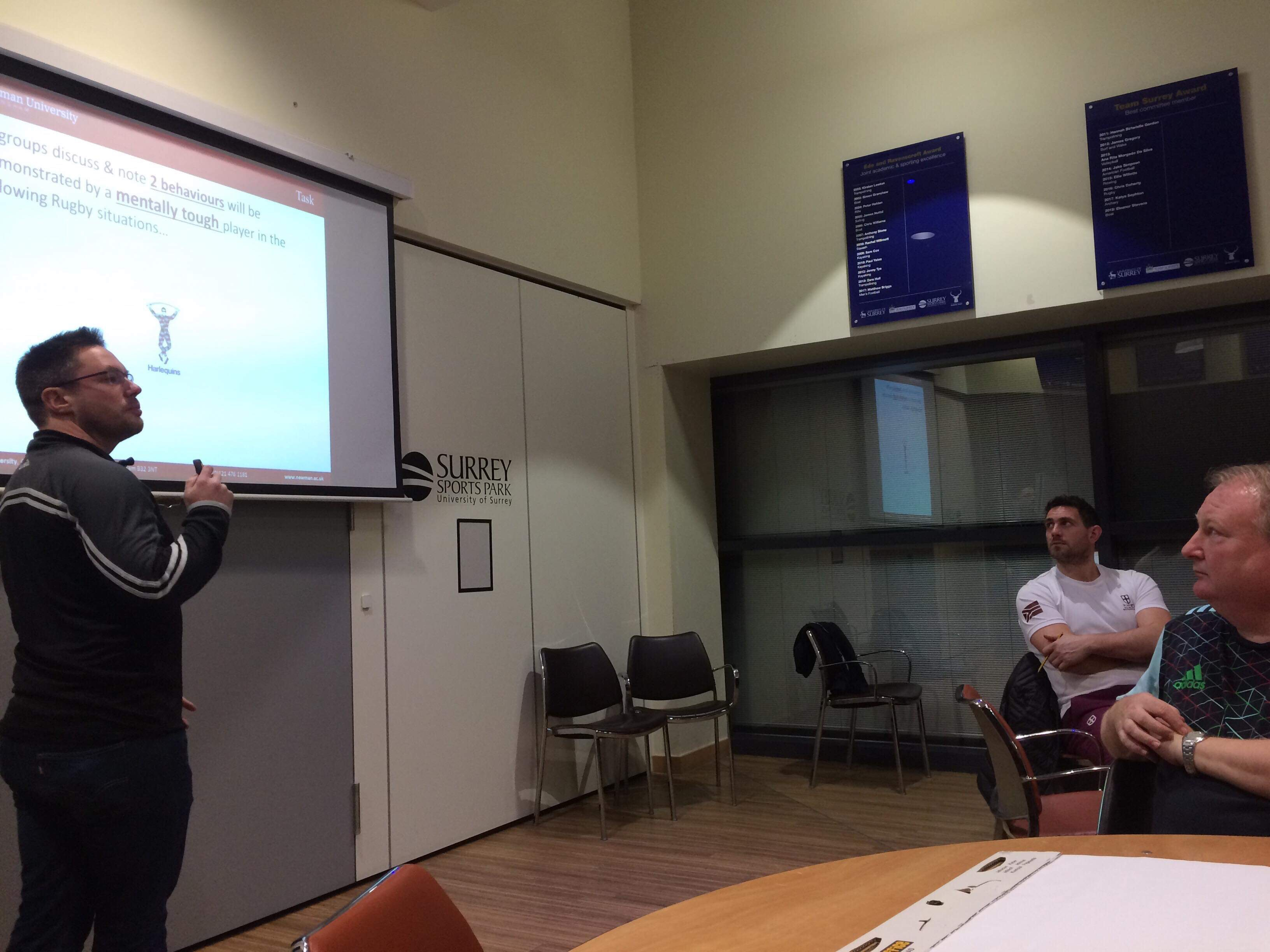 Alex Powell presenting