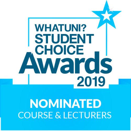 Whatuni student choice awards logo