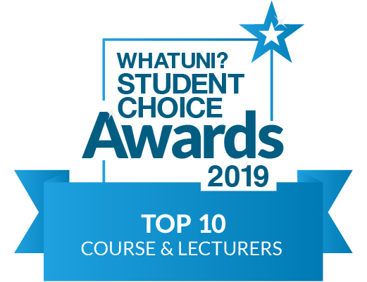What Uni badge - top 10 course and lecturers