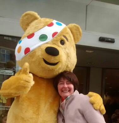 persephone with pudsey bear