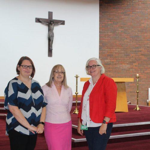 Helen Bardy, Maggie Everett, Margaret Holland celebrate partnership
