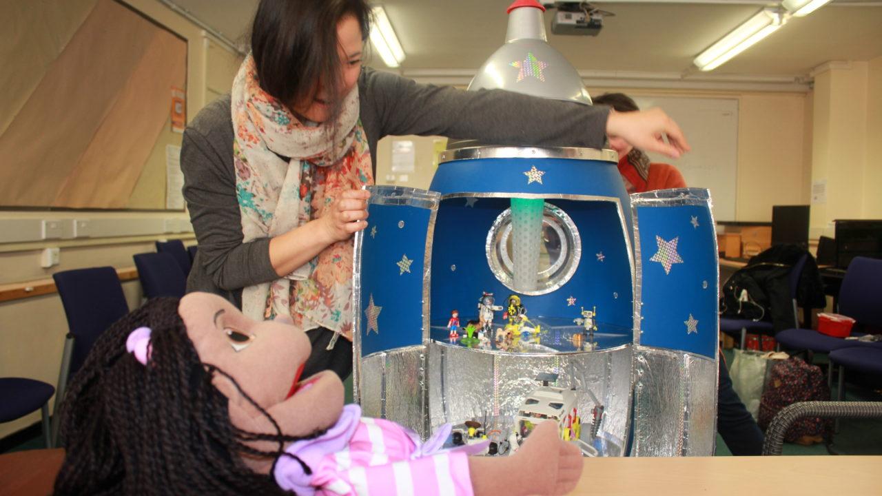 CADLab student rehearses bedside drama production RocketArts