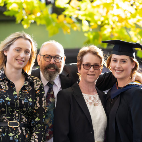 Bobby Bradstock, graduate with her family