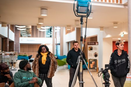 BBC filming on Newman campus