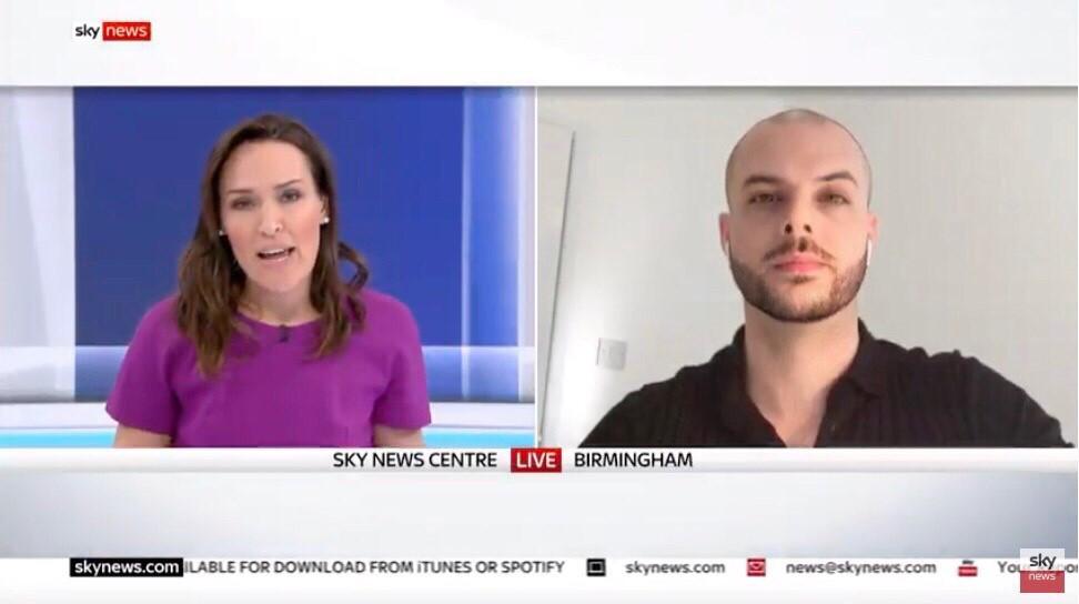 Stefan on Sky news