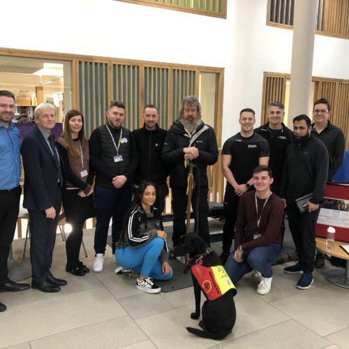 Phil Packer, MBE visits Newman University for Row Britannia challenge