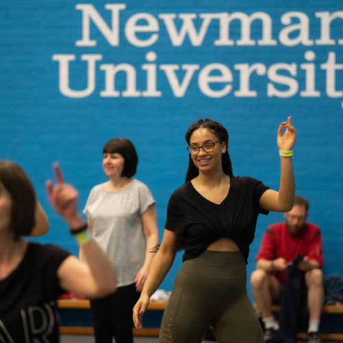 Students take part in Darcey Bussell dance class at Newman University