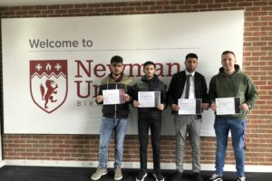 Students with certificates from CIMA