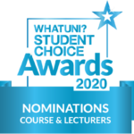 WhatUni nomination 2020 - course and lecturers