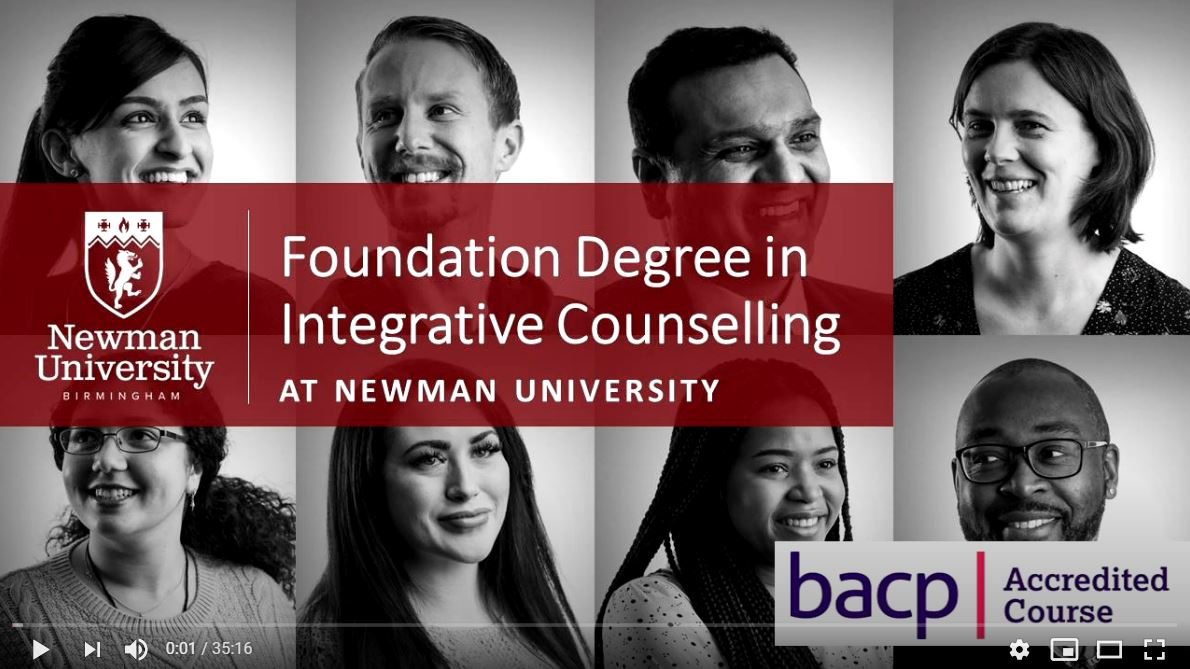 Foundation Degree in Integrative Counselling open day video