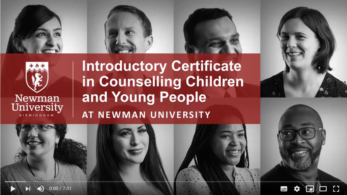 Introductory Certificate in Counselling Children and Young People video for virtual open day
