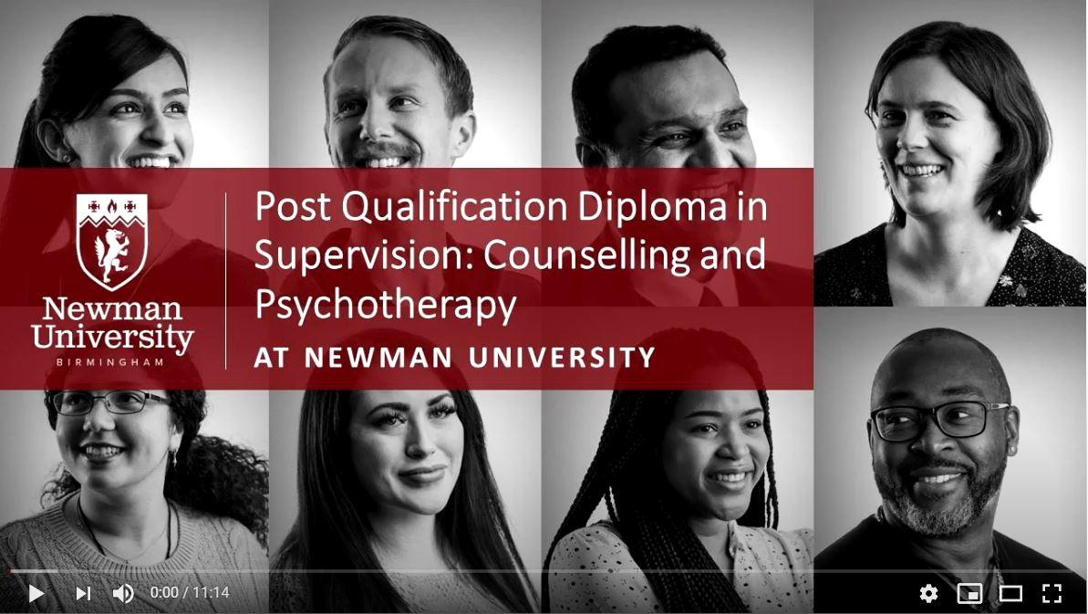 Postgradute Qualification Diploma in Supervision open day video