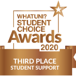 3rd place student support 2020 whatuni student choice awards