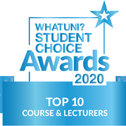 whatuni student choice awards top 10 course and lecturers