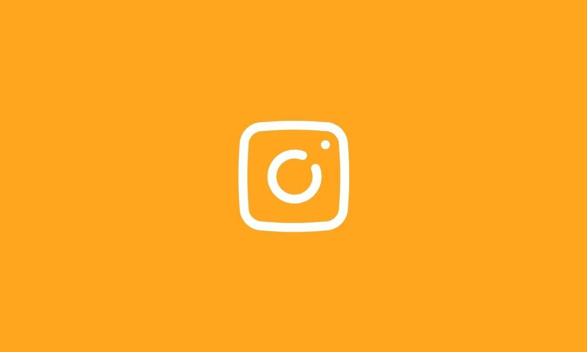 Instagram logo on orange background